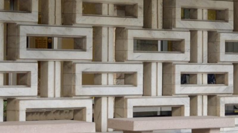 パターン模様の壁