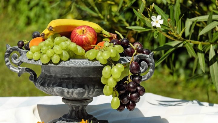 山盛りの果物